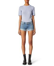 Croxley Cuffed Denim Shorts