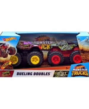 Mattel Hot Wheels monster trucks dueling doubles Splatter time