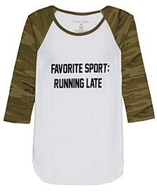 Juniors' Running Late Graphic T-Shirt