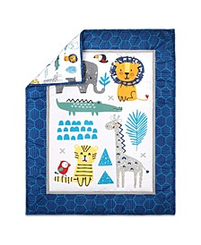 PS Safari Party 3-Piece Crib Bedding Set