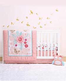 PS Aflutter 3-Piece Crib Bedding Set