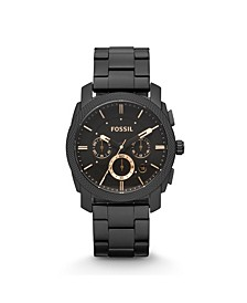 Machine Mid-Size Chronograph Black Stainless Steel Watch 42mm