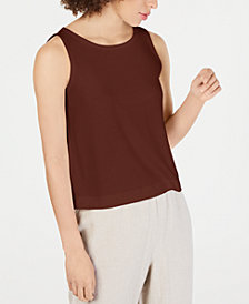 Eileen Fisher Ballet-Neck Tank Tencel ™ Top, Regular & Petite