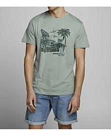 Men's Cotton Graphic Short Sleeve Crew Neck T-shirt