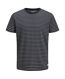 Men's Stripe Crew Neck Short Sleeve T-shirt