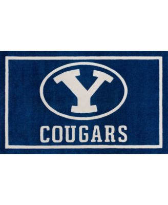 """Brigham Young Colby Blue 1'8"""" x 2'6"""" Area Rug"""