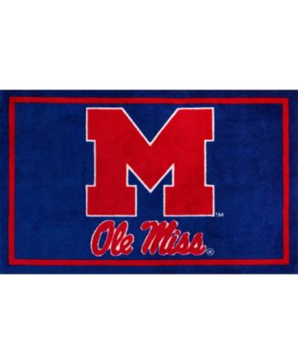 """Ole Miss Colms Navy 1'8"""" x 2'6"""" Area Rug"""