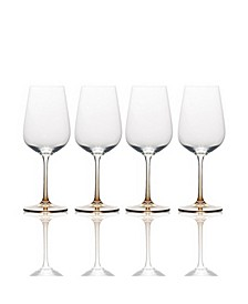 Gianna Ombre Amber White Wine Glasses, Set of 4