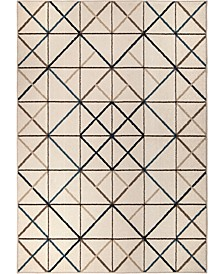 "Ranch Geo Matrix Beige 6'6"" x 9'6"" Area Rug"