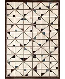 "Ranch Tri-Deco Beige 6'6"" x 9'6"" Area Rug"
