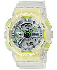 Men's Analog-Digital Frosted White Resin Strap Watch 51.2mm