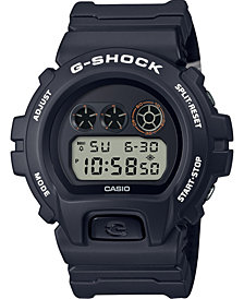 G-Shock Men's Digital Places + Faces Black Resin Strap Watch 50mm - A Limited Edition
