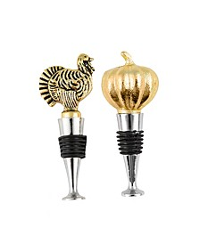 Harvest Bottle Stoppers, Set of 2