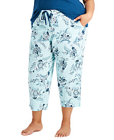 Charter Club Plus Size Cotton Capri Pajama Pants, Created for Macy's