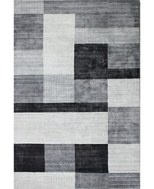 "Land Lnd-03 Ivory, Gray 3'6"" x 5'6"" Area Rug"