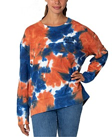 Juniors' Tie-Dyed Thankful Graphic Sweatshirt