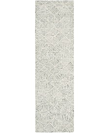 "Abstract 763 Sage 2'3"" x 8' Runner Area Rug"
