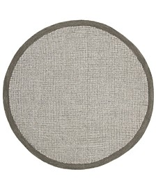 Abstract 220 Sage and Ivory 6' x 6' Round Area Rug