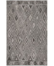 Abstract 618 Gray and Black 4' x 6' Area Rug