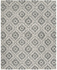 Abstract 202 Ivory and Onyx 8' x 10' Area Rug
