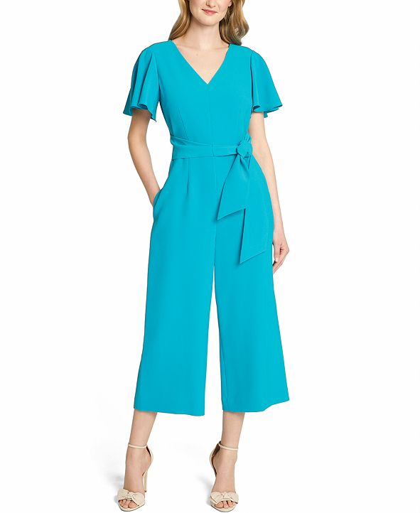 Tahari ASL Stretch Crepe Jumpsuit