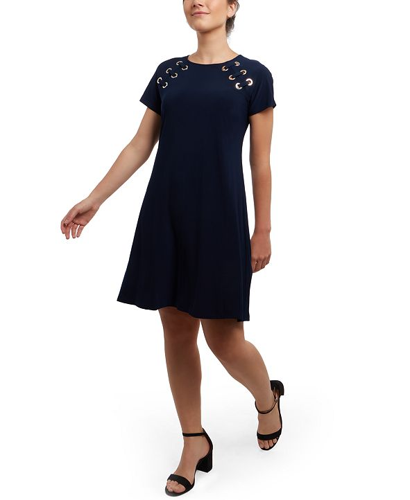 MSK Grommet Fit & Flare Dress