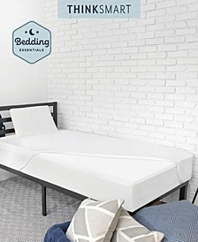ThinkSmart by Bedding Essentials Bundle with Mattress Topper, Memory Foam Pillow, and Mattress Protector
