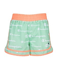 Toddler Girls Aop Champion Script Colorblocked Short