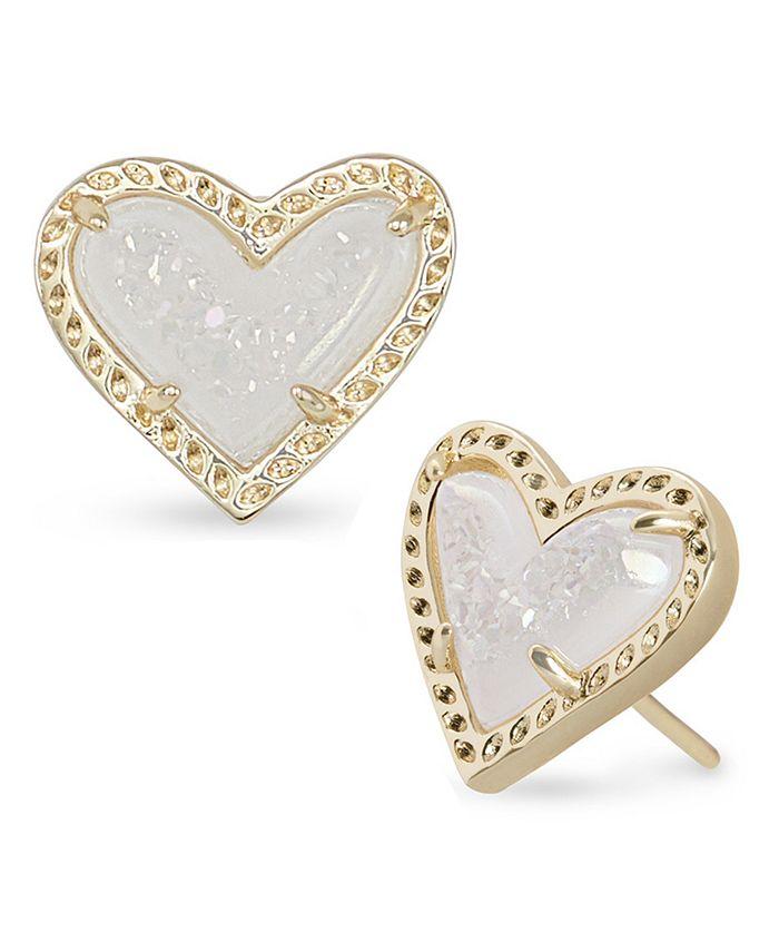Kendra Scott - Stone Heart Stud Earrings