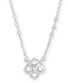 """Pavé Medallion Pendant Necklace, 15"""" + 2"""" extender"""