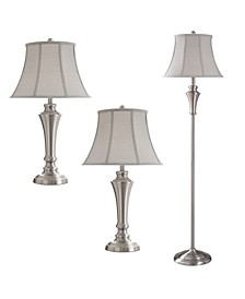 Floor and Table Lamp Set, Pack of 3