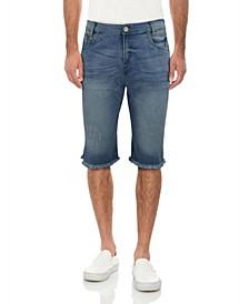 Men's Frayed Denim Short