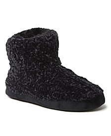 Women's Leah Marled Chenille Knit Bootie Slippers