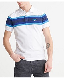 Men's Organic Cotton Malibu Stripe Polo Shirt