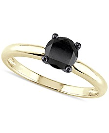 Black Diamond (1 ct. t.w.) Solitaire Ring in 14k Yellow, White or Rose Gold