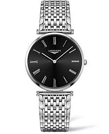 Women's Swiss La Grande Classique De Longines Stainless Steel Bracelet Watch 36mm