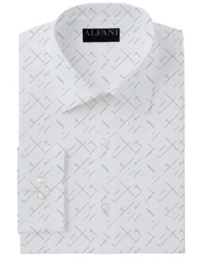 Alfani Men's Classic/Regular-Fit Performance Stretch Art Deco Abstract-Print Dress Shirt, Created for Macy's