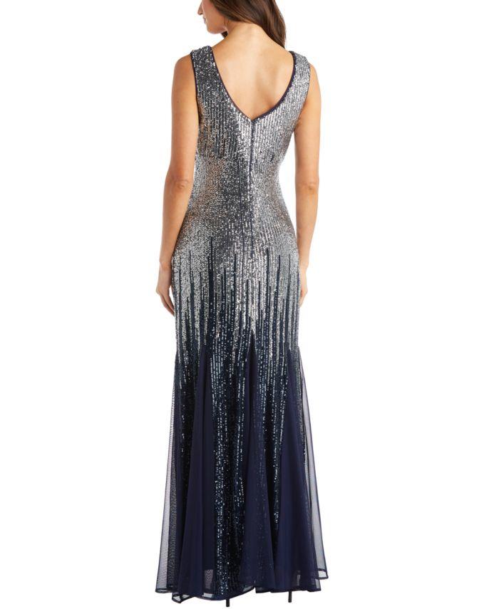 R & M Richards Petite Ombré Sequin Gown & Reviews - Dresses - Petites - Macy's