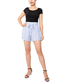 Derek Heart Juniors' Paperbag-Waist Soft Shorts