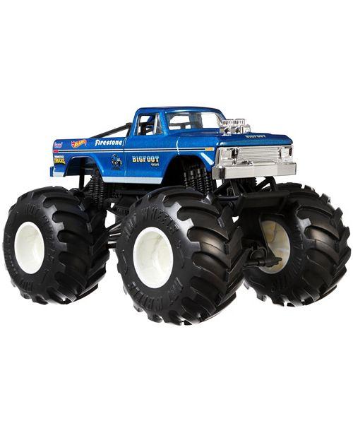 Hot Wheels Monster Trucks 1 24 Bigfoot Vehicles Reviews Home Macy S