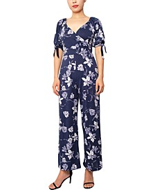 Juniors' Surplice Jumpsuit
