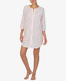 Paisley Print Sleepshirt Nightgown
