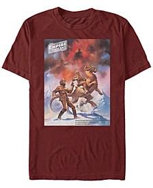 Men's Star Wars Empire Strikes Back Snowalker Poster Short Sleeve T-Shirt