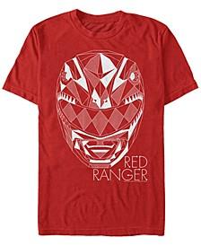 Men's Power Rangers Geometric Helmet Short Sleeve T-Shirt