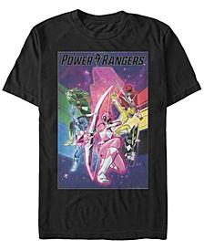 Men's Power Rangers Ranger Poster Short Sleeve T-Shirt
