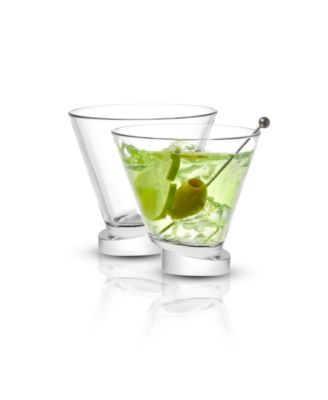 Aqua Vitae Off Base Round Martini Glasses, Set of 2