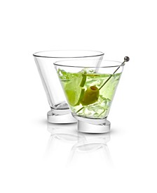 Aqua Vitae Off Base Round Martini Glasses, Set of 2
