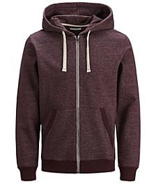 Men's Melange Zip Hoodie Long Sleeve Sweatshirt