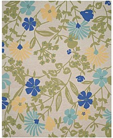 Meadow Floral MSR2210B Moss 8' x 10' Area Rug