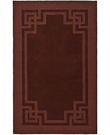Deco Frame MSR4614C Burgundy 8' x 10' Area Rug